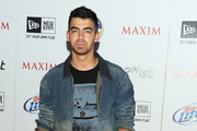 Joe Jonas Leather Band Chronograph Watch