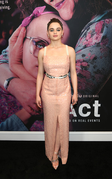 Joey King Sequin Dress [the act,fashion,clothing,pink,fashion model,premiere,dress,haute couture,shoulder,carpet,event,joey king,hulu,new york city,the whitby hotel,new york premiere]