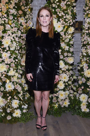Julianne Moore complemented her LBD with a pair of Gianvito Rossi Portofino sandals.