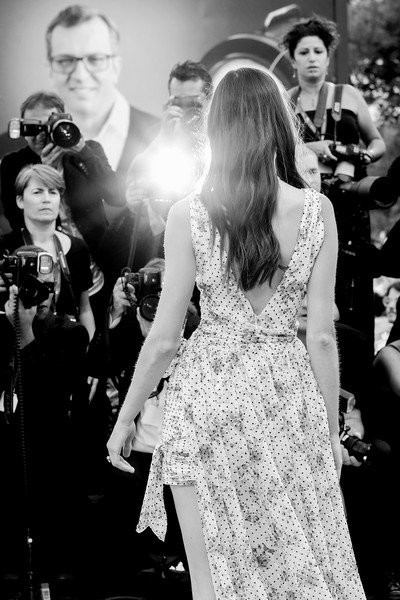 More Pics of Jacquelyn Jablonski Strappy Sandals (1 of 7) - Jacquelyn Jablonski Lookbook - StyleBistro [image,photograph,dress,black-and-white,gown,lady,monochrome,fashion,monochrome photography,snapshot,event,red carpet arrivals,joker,jacquelyn jablonski,sala grande,red carpet,venice,italy,76th venice film festival,screening]