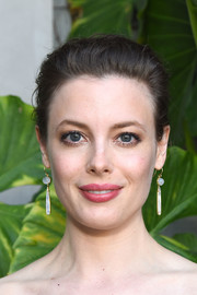 Gillian Jacobs swept her hair back into a loose bun for the Jonathan Simkhai store opening.