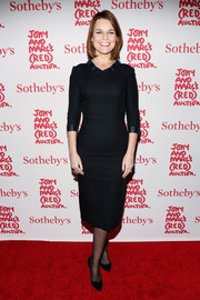 Savannah Guthrie played it safe with this simple little black dress during Jony and Marc's (Red) Auction.