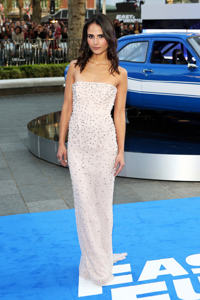 Jordana Brewster Strapless Dress