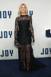 Elisabeth Rohm jumped in on the sheer trend with this black lace number at the New York premiere of 'Joy.'