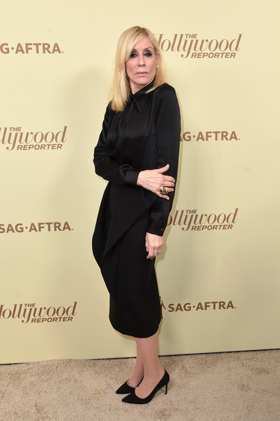 Judith Light Little Black Dress [the hollywood reporter,clothing,dress,footwear,fashion,little black dress,blond,shoe,leg,suit,formal wear,nominees,reporter,contenders,arrivals,contenders,judith light,celebrate emmy award,hollywood,sag-aftra]