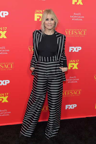 Judith Light Pantsuit [the assassination of gianni versace: american crime story,clothing,carpet,premiere,red carpet,footwear,flooring,trousers,style,performance,arrivals,judith light,fx,arclight hollywood,california,premiere]