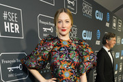 Judy Greer Embroidered Dress