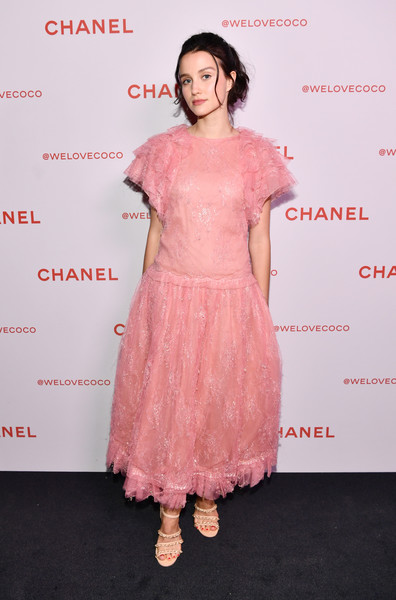 Julia Goldani Telles Strappy Sandals [pink,clothing,dress,shoulder,premiere,cocktail dress,peach,fashion,joint,fashion model,julia goldani telles,@welovecoco,chanel beauty house,california,los angeles,chanel party]