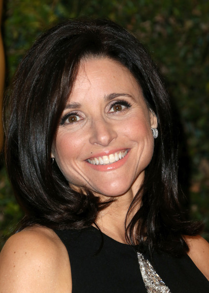 Julia Louis-Dreyfus Mid-Length Bob [hair,face,hairstyle,eyebrow,black hair,chin,smile,beauty,lip,forehead,arrivals,julia louis-dreyfus,governors awards,hollywood highland center,california,the ray dolby ballroom,academy of motion picture arts and sciences,academy of motion picture arts and sciences governors awards]