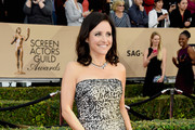 Julia Louis-Dreyfus Strapless Dress