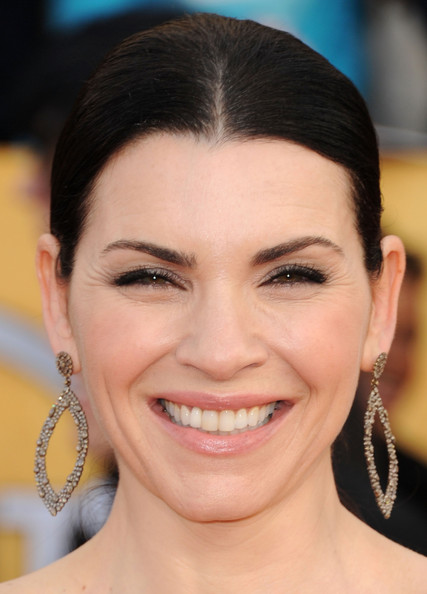 Julianna Margulies Dangling Diamond Earrings