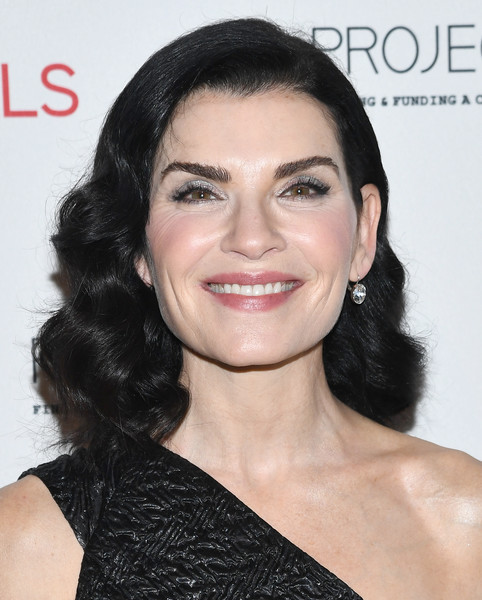 Julianna Margulies Medium Curls [hair,face,eyebrow,hairstyle,skin,chin,lip,black hair,beauty,cheek,julianna margulies,gala,new york city,cipriani 42nd street,project als 21st,project als]