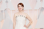 Julianne Moore Strapless Dress