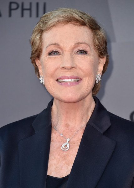 Julie Andrews Short Side Part [hair,face,hairstyle,chin,blond,official,white-collar worker,businessperson,premiere,smile,julie andrews,los angeles,california,walt disney concert hall,los angeles philharmonic,opening night gala]