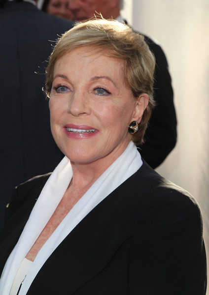 Julie Andrews Short Side Part [the sound of music,hair,hairstyle,blond,chin,official,smile,businessperson,white-collar worker,suit,formal wear,julie andrews,california,hollywood,red carpet,tcl chinese theatre imax,screening,tcm classic film festival opening night gala 50th anniversary screening,tcm classic film festival opening night gala]