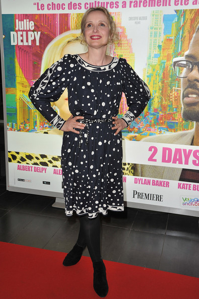 Julie Delpy Print Dress