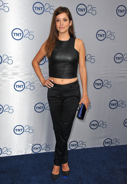 Julie Gonzalo Skinny Pants [clothing,shoulder,crop top,waist,fashion,footwear,joint,long hair,electric blue,dress,anniversary party - arrivals,julie gonzalo,25th anniversary partyat the beverly hilton hotel,beverly hills,california,tnt]