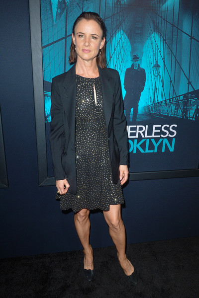 Juliette Lewis Blazer [warner bros pictures,motherless brooklyn,clothing,premiere,fashion,carpet,dress,footwear,event,flooring,outerwear,cocktail dress,red carpet,juliette lewis,california,los angeles,premiere of warner bros pictures motherless brooklyn,premiere]