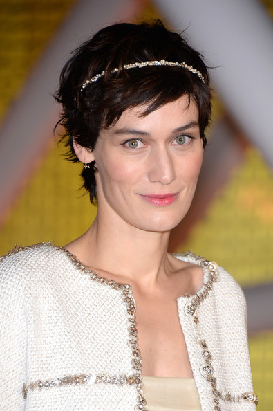 Clotilde Hesme wore a messy pixie, complete with a bedazzled headband, at the 2014 Marrakech International Film Festival jury photocall.