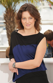 Giovanna Mezzogiorno showed off her mid-length waves while attending the Cannes Film Festival.