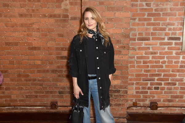 More Pics of Dianna Agron Flare Jeans (1 of 2) - Dianna Agron Lookbook - StyleBistro [jury,diana agron,clothing,street fashion,outerwear,fashion,denim,fur,coat,brick,jacket,jeans,welcome lunch,lunch,tribeca film festival,tribeca grill loft,new york city]
