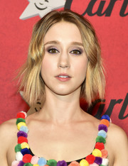 Taissa Farmiga sported a short wavy hairstyle at Just Jared's Halloween party.