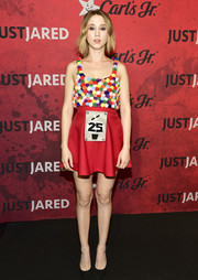 Taissa Farmiga looked so cute in her gumball-machine dress at Just Jared's Halloween party.