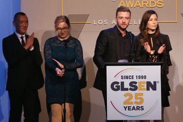 Justin Timberlake Jessica Biel GLSEN Respect Awards - Los Angeles - Inside