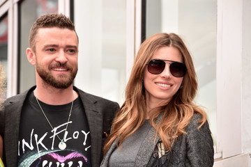 Justin Timberlake Jessica Biel NSYNC Honored With Star On The Hollywood Walk Of Fame