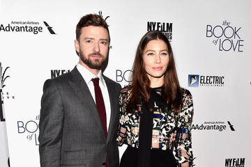 Justin Timberlake Jessica Biel Premiere of Electric Entertainment's 'The Book of Love' - Arrivals
