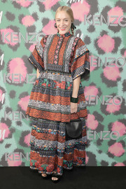 Chloe Sevigny was a graphic explosion in an oversized mixed-print dress by Kenzo x H&M during the collaboration's launch.
