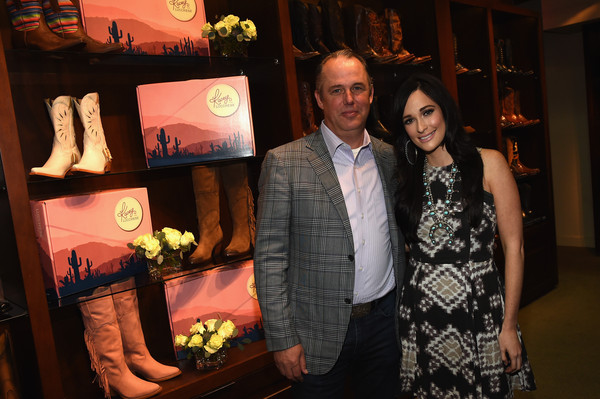 More Pics of Kacey Musgraves Print Dress (9 of 20) - Kacey Musgraves Lookbook - StyleBistro [event,formal wear,suit,kacey musgraves,doug kindy,nashville,tennessee,lucchese,kacey for lucchese collection launch event]