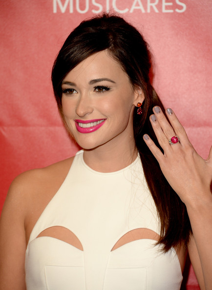 Kacey Musgraves Gemstone Ring [musicares person of the year gala,hair,face,lip,eyebrow,hairstyle,skin,beauty,chin,forehead,cheek,arrivals,carole king,kacey musgraves,los angeles convention center,california]