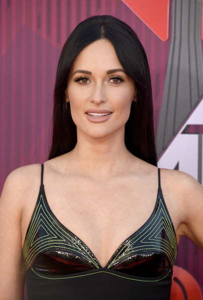 Kacey Musgraves Beige Lipstick [hair,brassiere,clothing,beauty,hairstyle,model,black hair,brown hair,long hair,undergarment,arrivals,kacey musgraves,iheartradio music awards,california,los angeles,microsoft theater,fox]