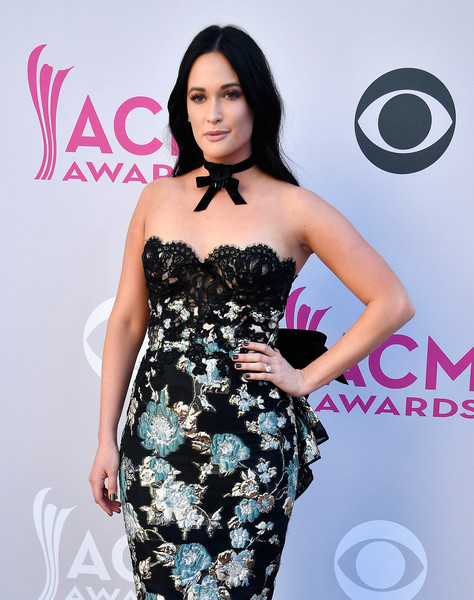 Kacey Musgraves Dark Nail Polish [kacey musgraves,arrivals,dress,clothing,shoulder,fashion model,strapless dress,cocktail dress,hairstyle,premiere,fashion,carpet,las vegas,nevada,toshiba plaza,academy of country music awards]