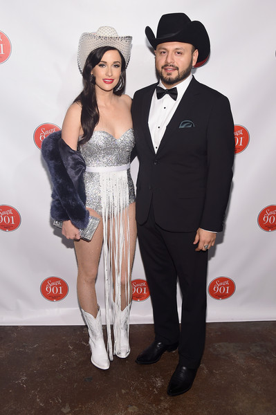 Kacey Musgraves Fur Coat [clothing,suit,formal wear,tuxedo,carpet,fashion,costume,red carpet,flooring,event,sauza 901 tequila host,justin timberlake,misa arriaga,kacey musgraves,exclusive coverage,nashville,tennessee,cma,citizen,party]