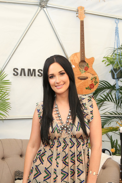Kacey Musgraves Beaded Statement Necklace [clothing,beauty,fashion,shoulder,summer,dress,long hair,photo shoot,guitar,smile,hub,kacey musgraves,creator,austin,texas,zilker park,samsung,austin city limits music festival]