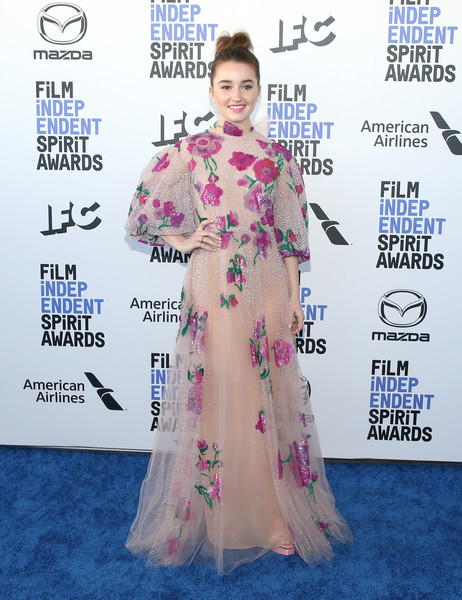 Kaitlyn Dever Beaded Dress [red carpet,clothing,carpet,flooring,premiere,shoulder,dress,joint,event,costume,arrivals,kaitlyn dever,film independent spirit awards,santa monica,california,kaitlyn dever,35th independent spirit awards,santa monica,academy awards,film independent,indie film,photograph,independent spirit award for best first feature,actor,stock photography]