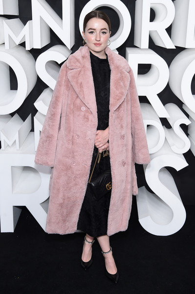 Kaitlyn Dever Quilted Leather Bag [clothing,fashion,pink,fashion model,outerwear,coat,overcoat,fur,street fashion,fur clothing,kaitlyn dever,new york city,nordstrom nyc flagship,nordstrom nyc flagship opening party,party]