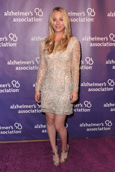 Kaley+Cuoco+Beaded+Dress