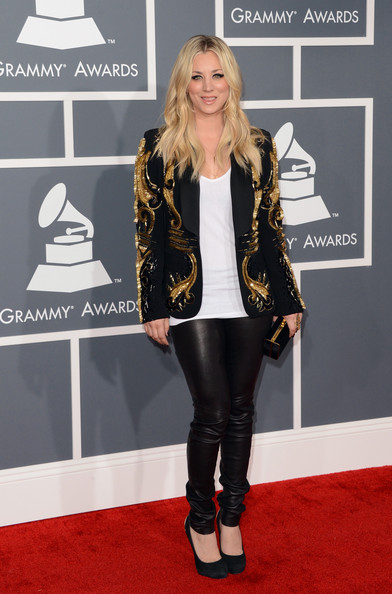 Kaley Cuoco Leather Pants