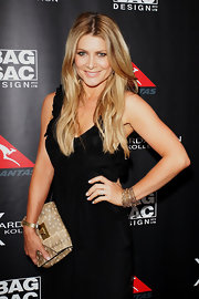 Natalie Bassingthwaighte wore a gorgeous multi-chain bracelet at a handbag collection launch.