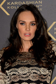 Tamara Ecclestone wore her hair in a cascade of curls during the Kardashian Kollection for Lipsy launch.