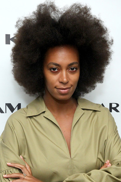 More Pics of Solange Knowles Afro (1 of 4) - Solange Knowles Lookbook - StyleBistro [shows,the shows,hair,afro,hairstyle,jheri curl,black hair,human,wig,s-curl,lace wig,long hair,solange knowles,karigam,new york city,clarkson sq,the gallery,new york fashion week,karigam - backstage - spring,fashion show]