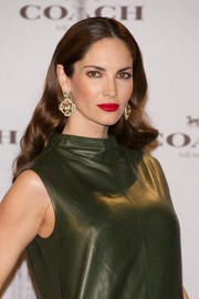 Eugenia Silva oozed glamour during the Coach boutique opening wearing her hair in retro waves.