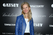 Karolina Kurkova Leather Jacket