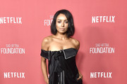 Kat Graham Off-the-Shoulder Dress