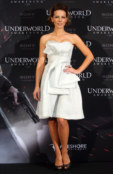 Kate Beckinsale Peep Toe Pumps