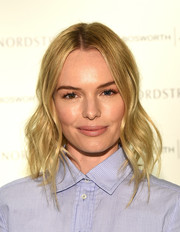 Kate Bosworth looked summer-ready with her beach-chic waves at the launch of her Matisse footwear collection.