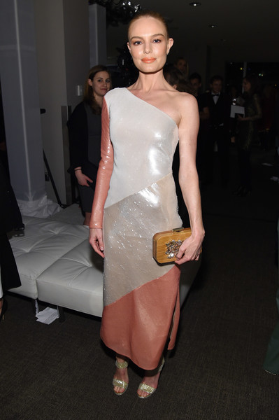 Kate Bosworth Gemstone Inlaid Clutch [fashion model,catwalk,fashion,flooring,beauty,shoulder,leg,cocktail dress,haute couture,fashion show,dvf awards,united nations headquarters,new york city,kate bosworth]